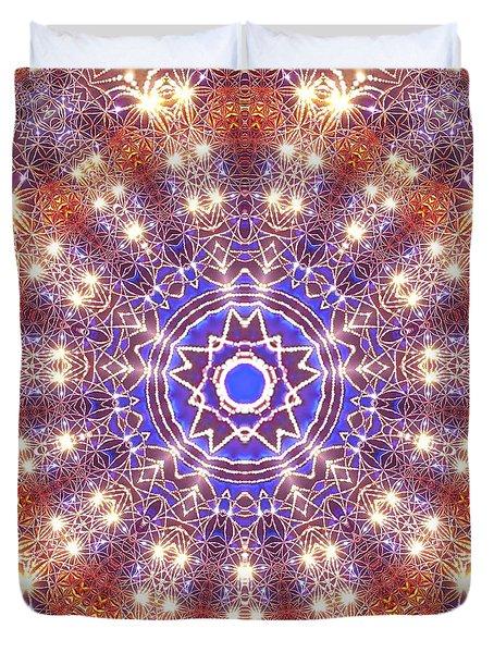 Duvet Cover featuring the digital art Jyoti Ahau 10 by Robert Thalmeier