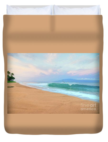Duvet Cover featuring the photograph Ka'anapali Waves by Kelly Wade