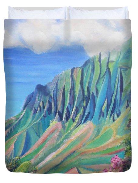 Kalalau Valley Duvet Cover