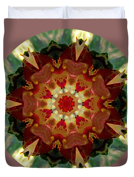 Kaleidoscope - Warm And Cool Colors Duvet Cover