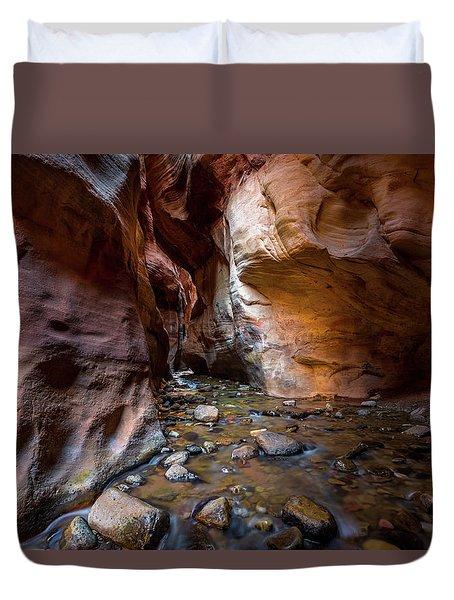 Kanarra Slot Canyon Duvet Cover