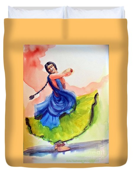 Kathak Dancer Duvet Cover