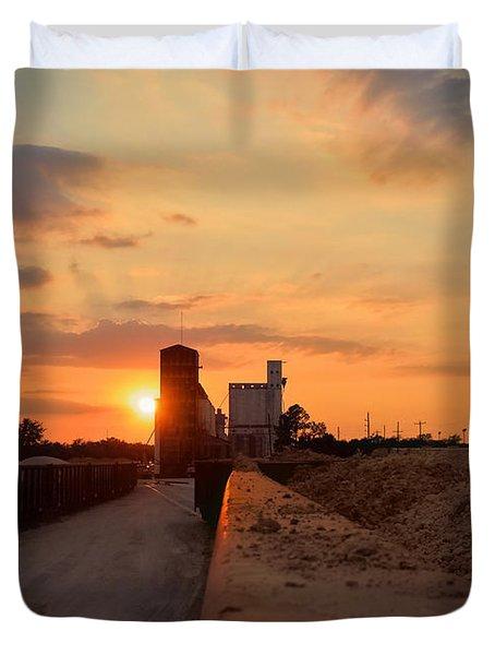 Katy Texas Sunset Duvet Cover