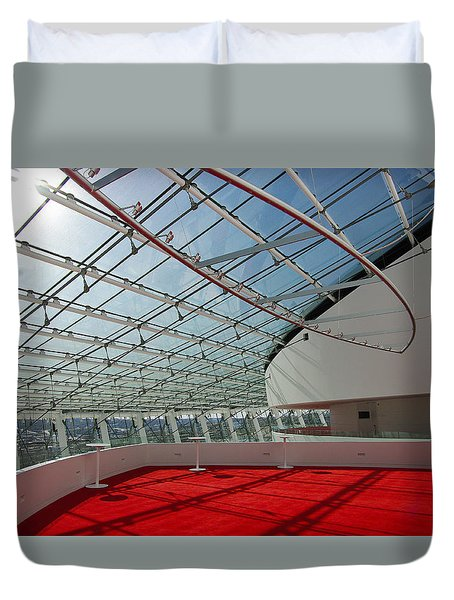 Duvet Cover featuring the photograph Kauffman Center For The Performing Arts by Jim Mathis