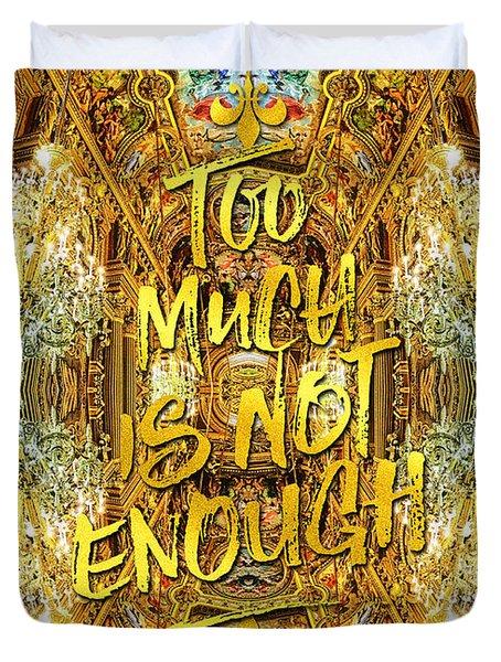 Too Much Is Not Enough Opera Garnier Grand Foyer Paris Duvet Cover