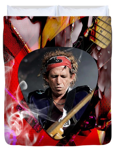 Keith Richards The Rolling Stones Art Duvet Cover by Marvin Blaine