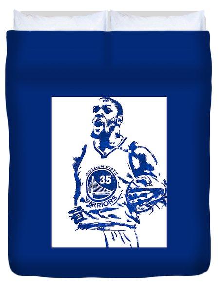 Kevin Durant Golden State Warriors Pixel Art 4 Duvet Cover