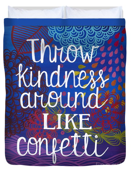 Duvet Cover featuring the painting Kindness by Carla Bank