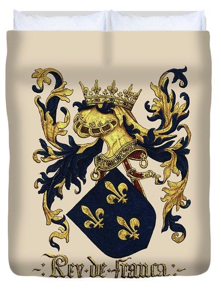 King Of France Coat Of Arms - Livro Do Armeiro-mor  Duvet Cover
