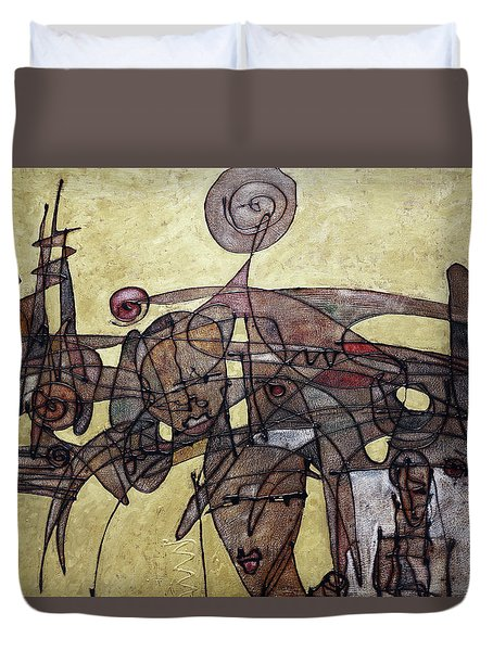 Kissed By The Sun Duvet Cover by Ronex Ahimbisibwe