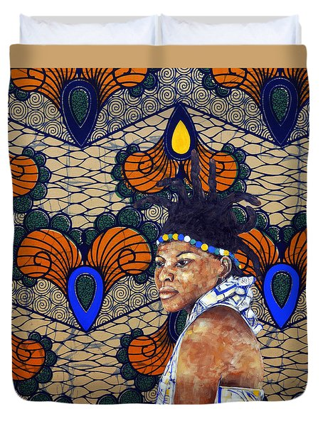 Kitenge Background Series Duvet Cover by Ronex Ahimbisibwe