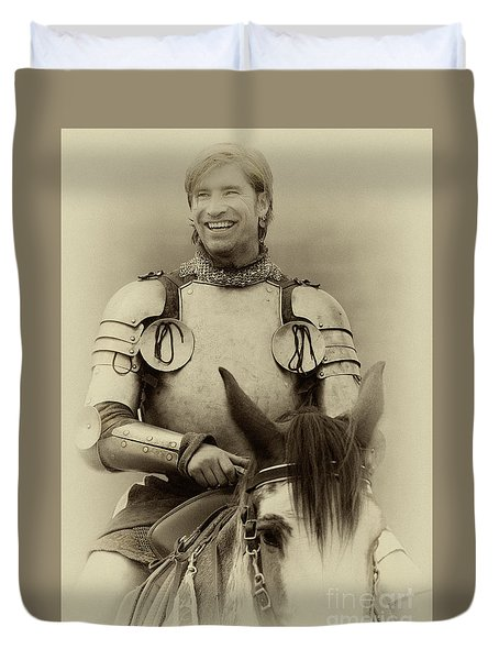 Knights Of Old 12 Duvet Cover by Bob Christopher