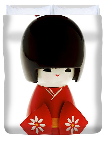 Kokeshi Doll Duvet Cover by Larry Dale Gordon - Printscapes