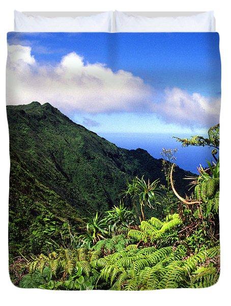 Koolau Summit Trail Duvet Cover