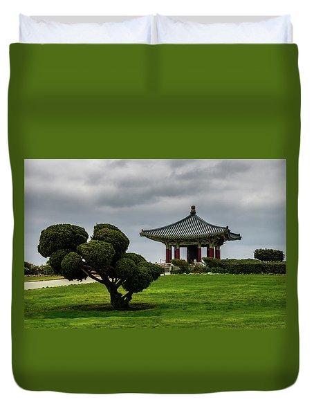 Korean Bell Of Friendship Duvet Cover
