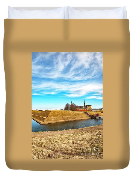 Duvet Cover featuring the photograph Kronborg Castle In Helsingor by Antony McAulay