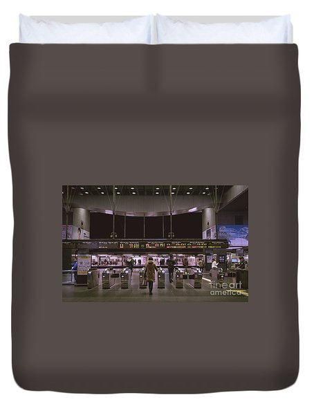 Kyoto Train Station, Japan Duvet Cover