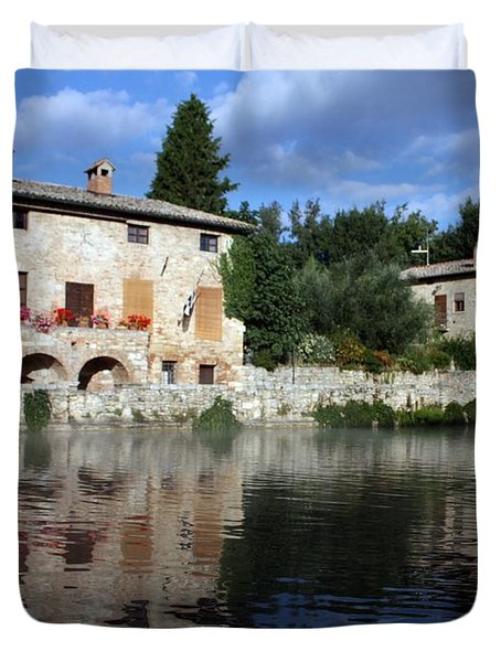 Duvet Cover featuring the photograph La Terme by Pat Purdy