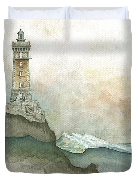 La Vieille Lighthouse Duvet Cover