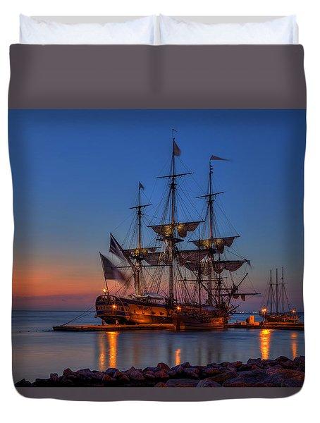 Lafayette's Hermione Voyage 2015 Duvet Cover