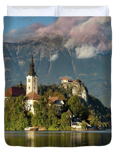 Duvet Cover featuring the photograph Lake Bled by Brian Jannsen