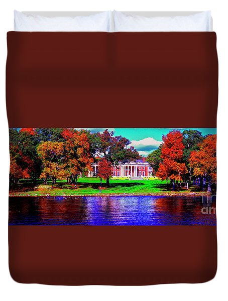 Lake Geneva Wisconsin North Shore Fall Duvet Cover