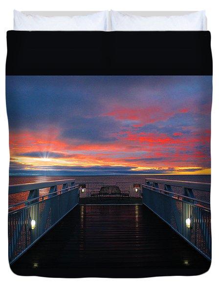 Lake Huron Sunrise Duvet Cover
