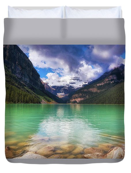 Lake Louise Is Really Green Duvet Cover