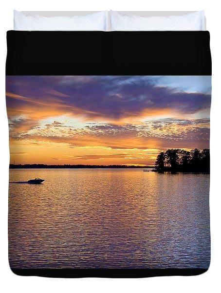 Lake Murray Sunset Duvet Cover