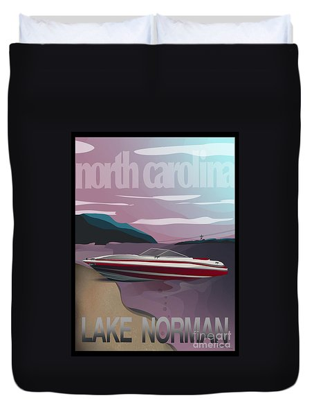 Lake Norman Poster  Duvet Cover