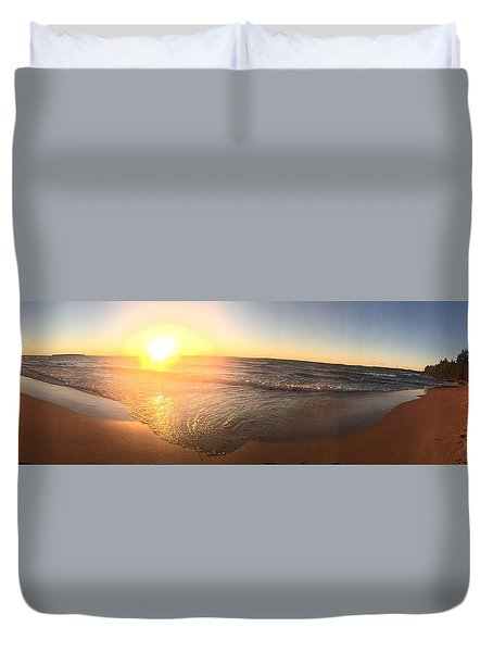 Lake Superior Fall Duvet Cover