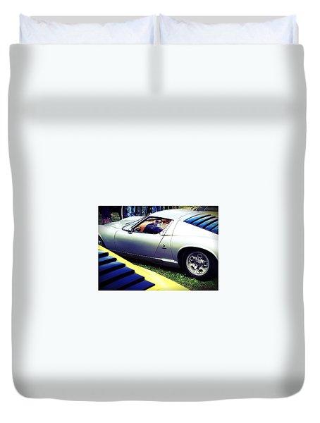 Lamborghini Miura S Duvet Cover