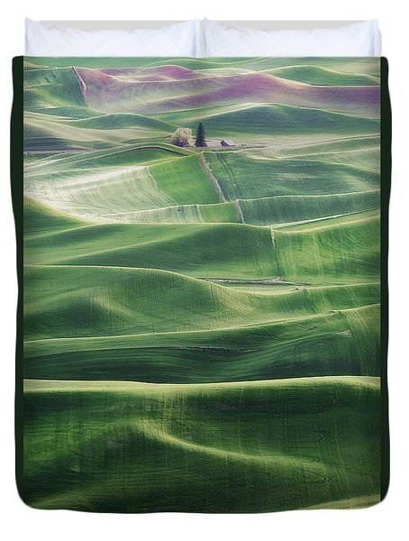 Land Waves Duvet Cover by Ryan Manuel