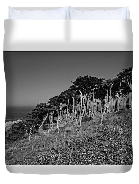 Lands End In San Francisco Duvet Cover