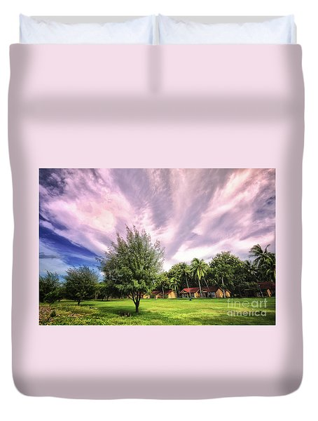 Duvet Cover featuring the photograph Landscape  by Charuhas Images