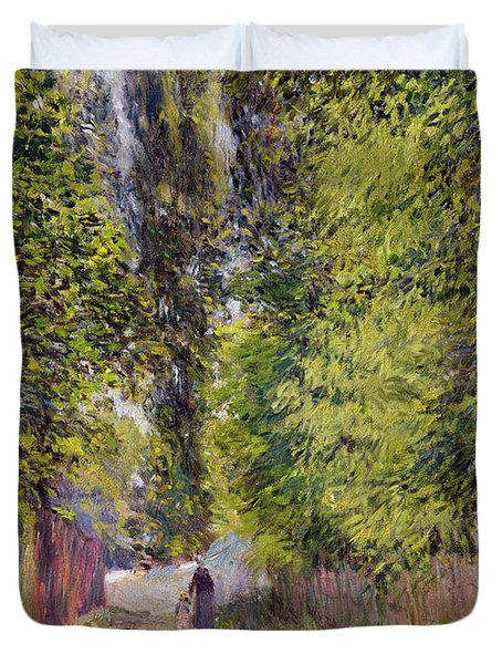 Landscape Near Louveciennes Duvet Cover by Alfred Sisley