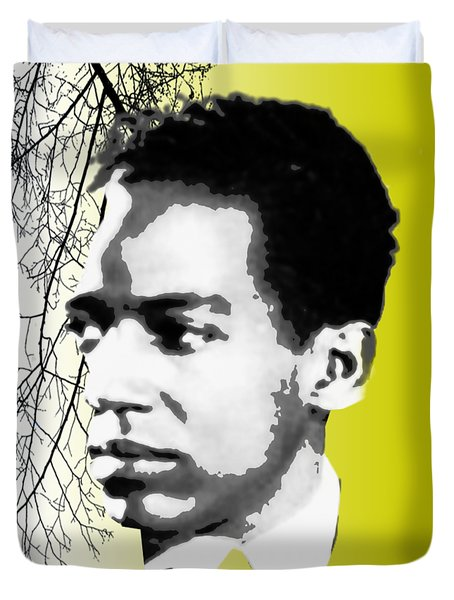Langston Hughes Duvet Cover by Asok Mukhopadhyay