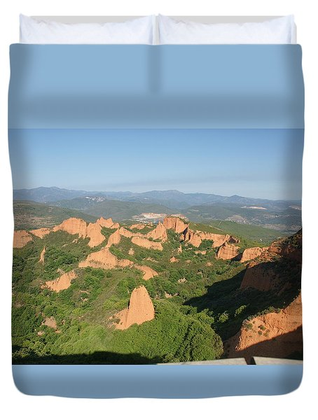 Duvet Cover featuring the photograph Las Medulas by Christian Zesewitz