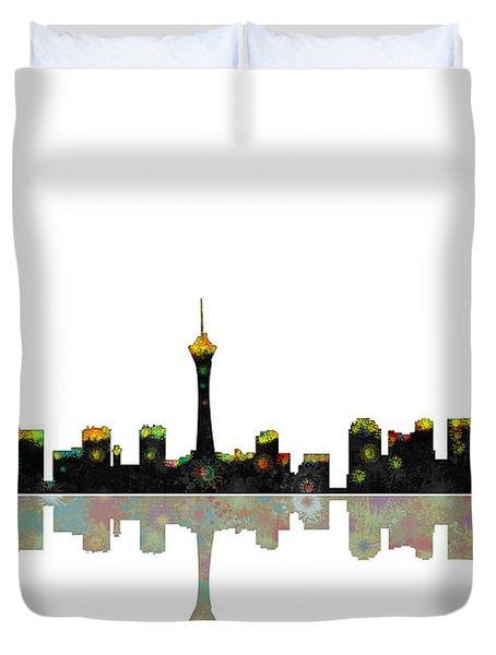 Las Vegas Nevada Skyline Duvet Cover