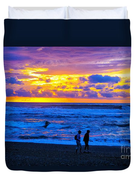 Duvet Cover featuring the photograph Last Light by Rick Bragan