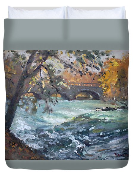 Late Afternoon By Niagara River Duvet Cover