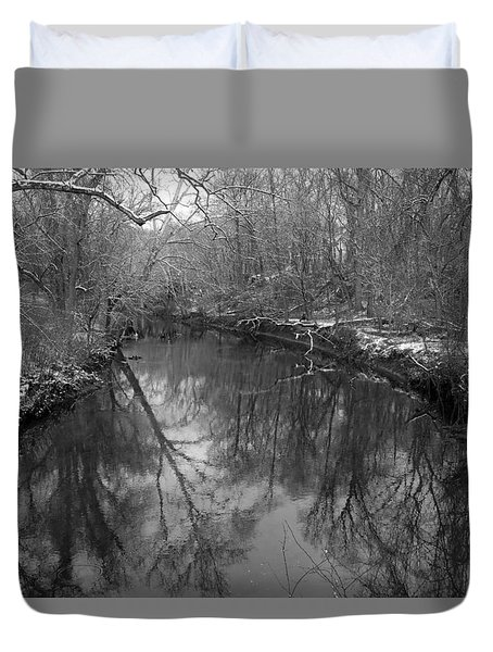 Duvet Cover featuring the photograph Late Winter In Philly by Dorin Adrian Berbier