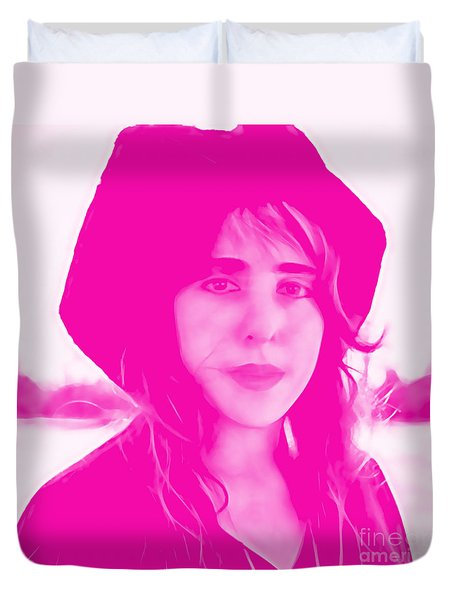 Laura Nyro Collection Duvet Cover by Marvin Blaine