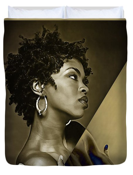Lauryn Hill Collection Duvet Cover by Marvin Blaine
