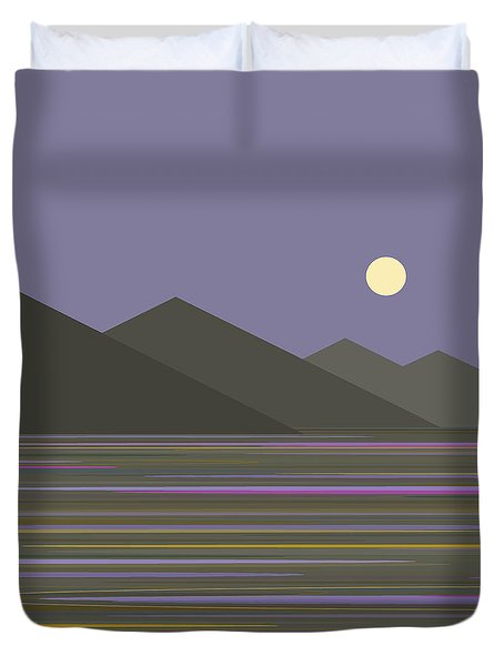 Lavender Sky  Reflections Duvet Cover by Val Arie