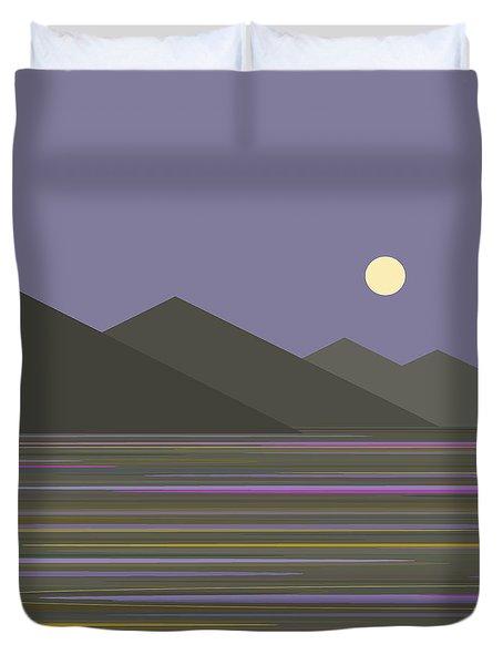 Lavender Sky  Reflections Duvet Cover