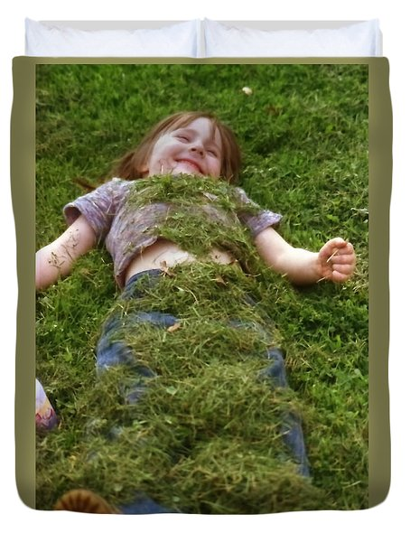 Lazin In The Grass Duvet Cover