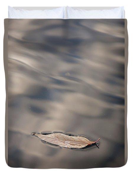 Leaf On Water Duvet Cover