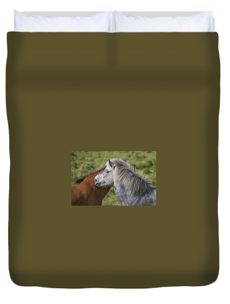 Duvet Cover featuring the photograph Lean On Me by Elvira Butler