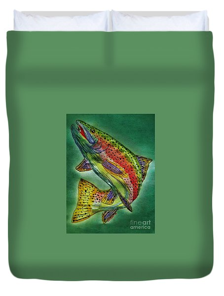 Leaping Trout Duvet Cover